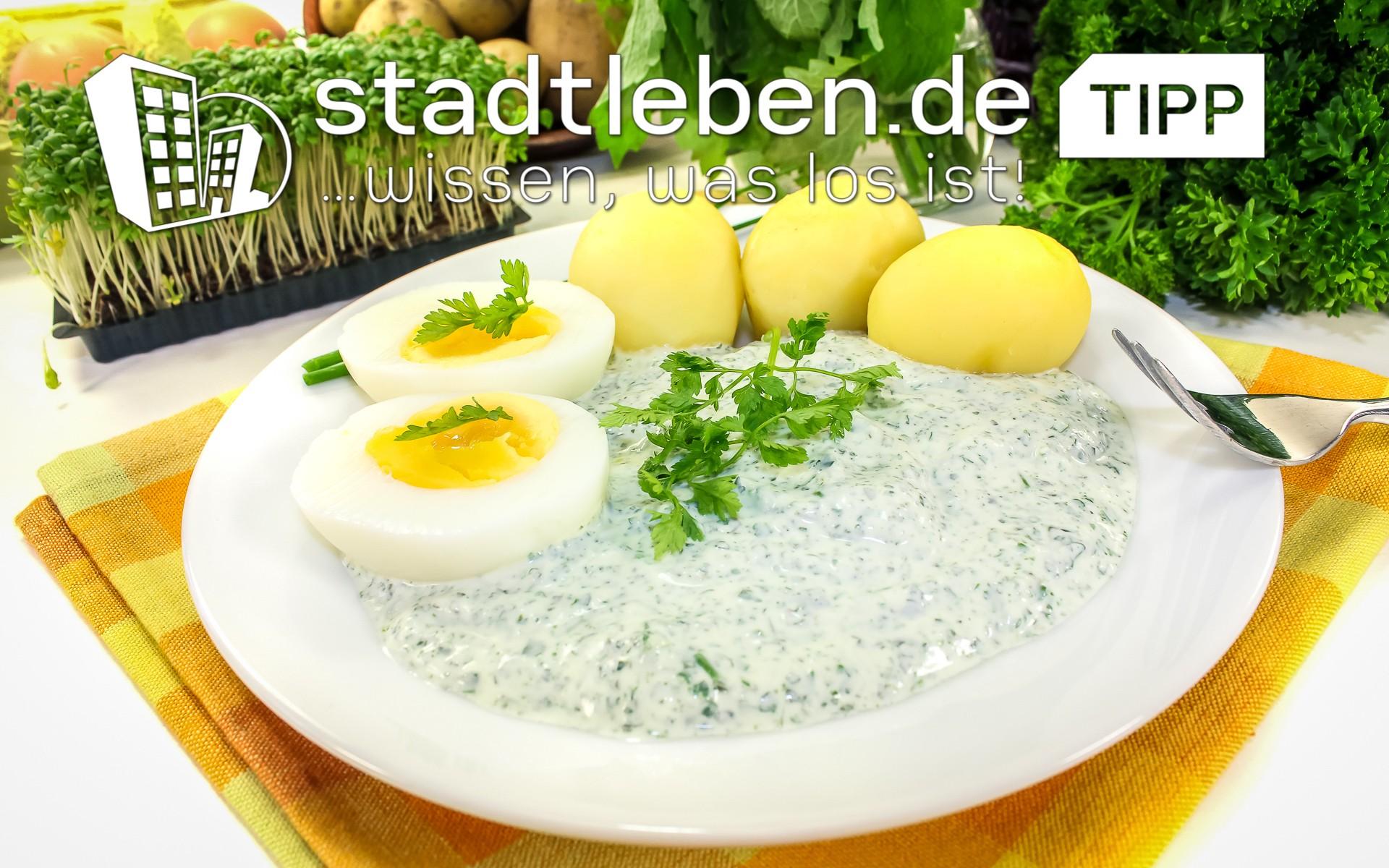 Frankfurter Grüne Sosse mit Kartoffeln und Eiern