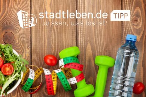 Maßband, Tomate, Gemüse, volle Wasserflasche, Fitnesswerkzeug