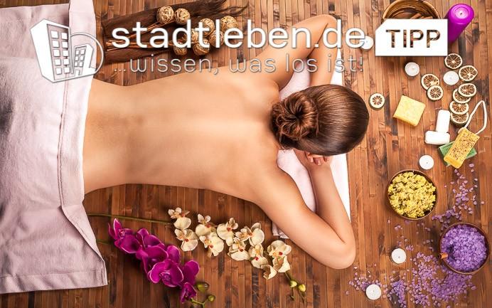 Frau, Rücken, Blüten, Orchidee, Kerze, Seife, Massage, Handtuch, Entspannung