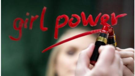 Frau, Lippenstift, Spiegel, girl power