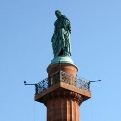 Darmstadt, Stadt, Luisenplatz, Langer Ludwig, Denkmal, Sehenwürdigkeit