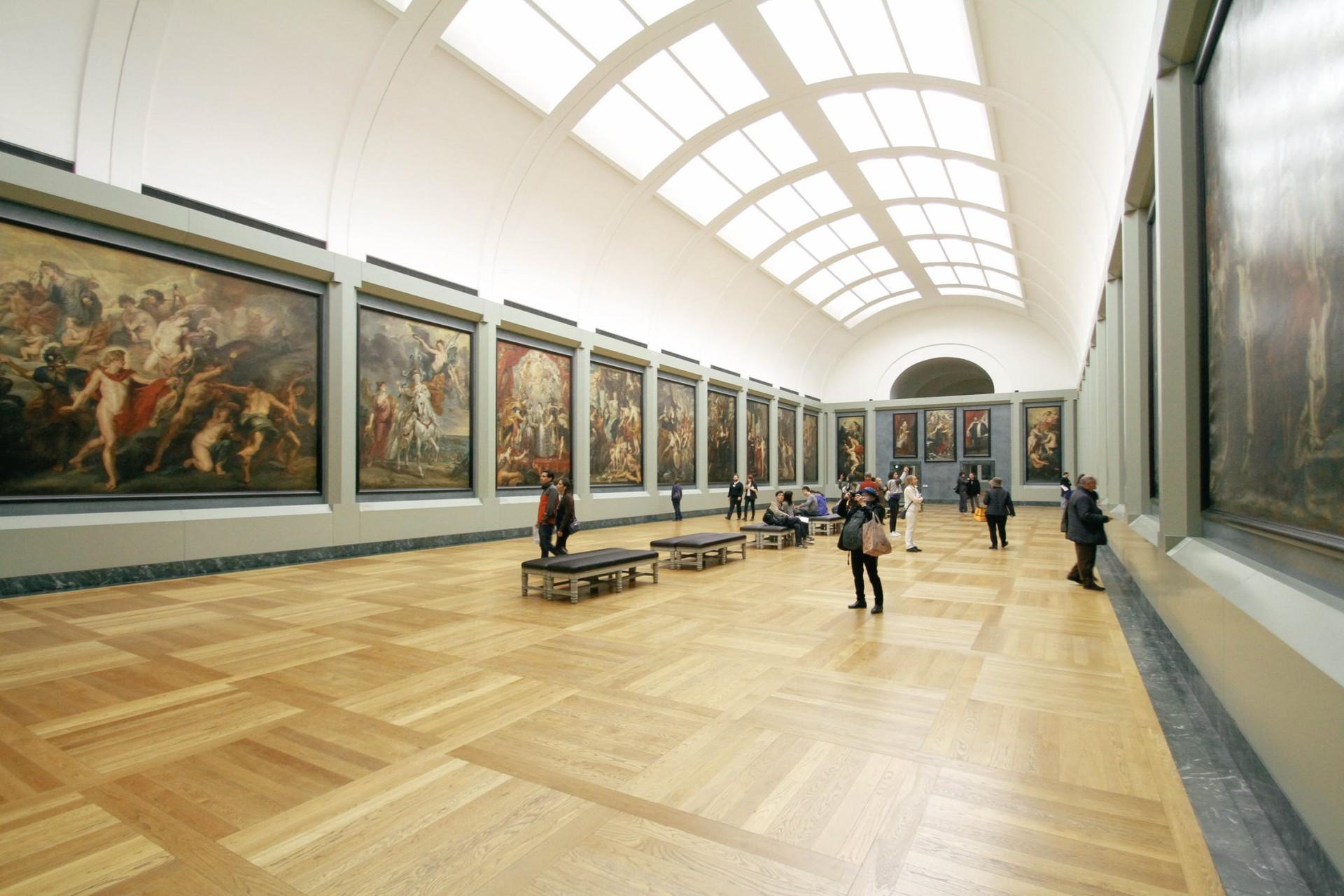 Museum, Galerie, Bilder, Ausstellung, Menschen, Kunst