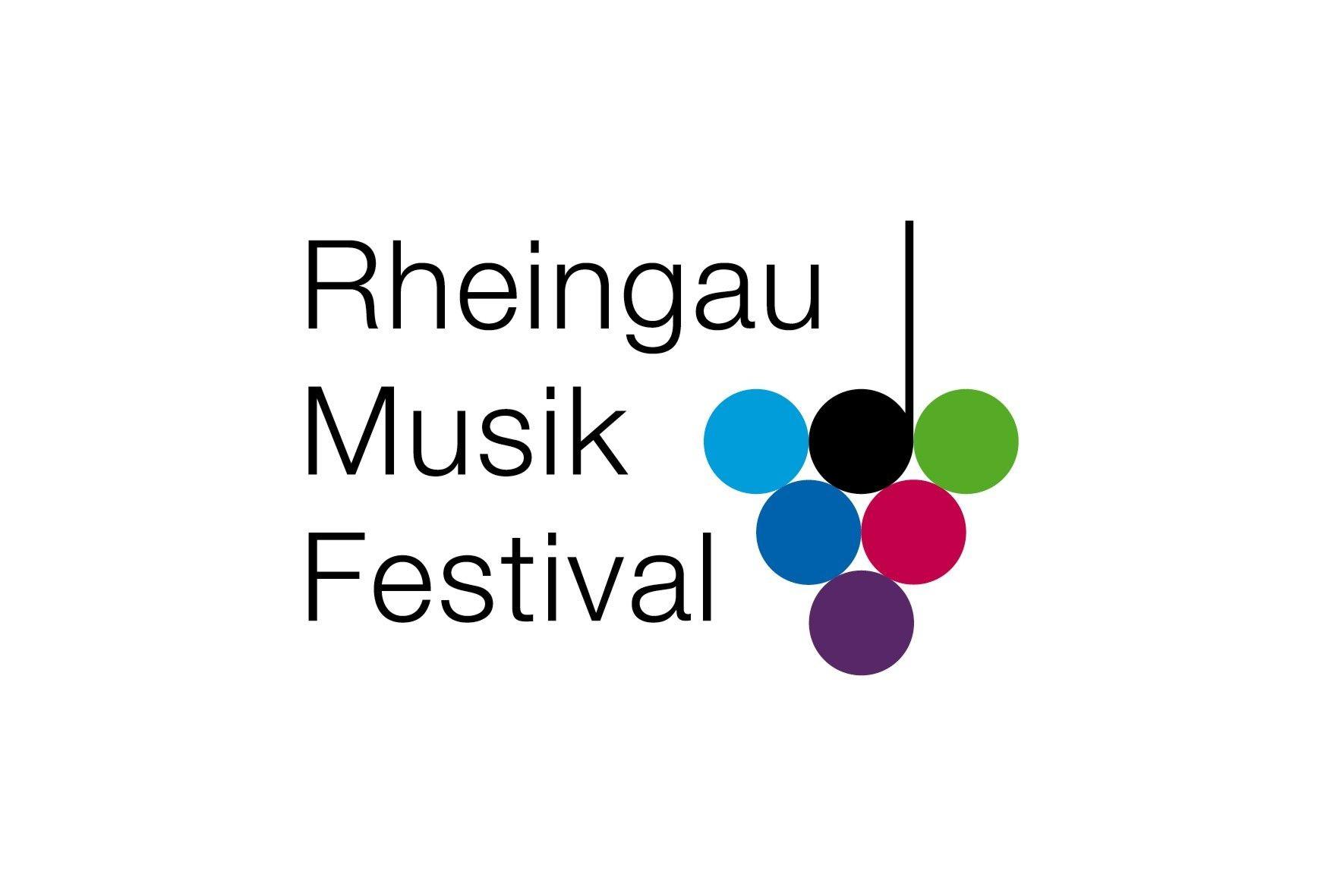 Logo Rheingau Musik Festival, Trauben, bunte Farben