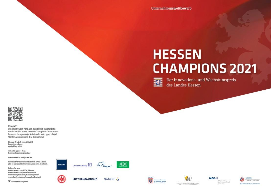 Flyer, rot, weiß, Hessen Champions