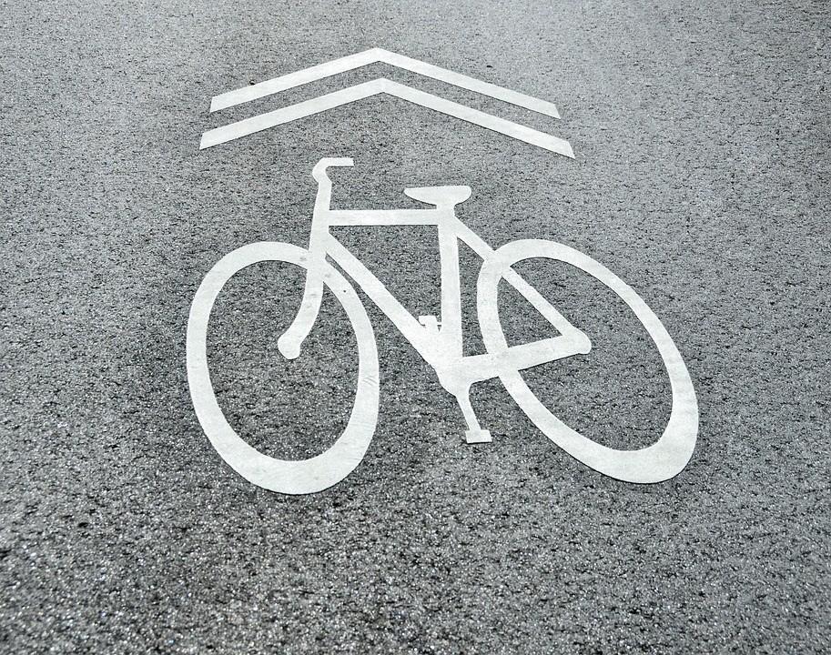 Fahrradzeichen, Symbol, Straße, Fahrrad, Verkehr