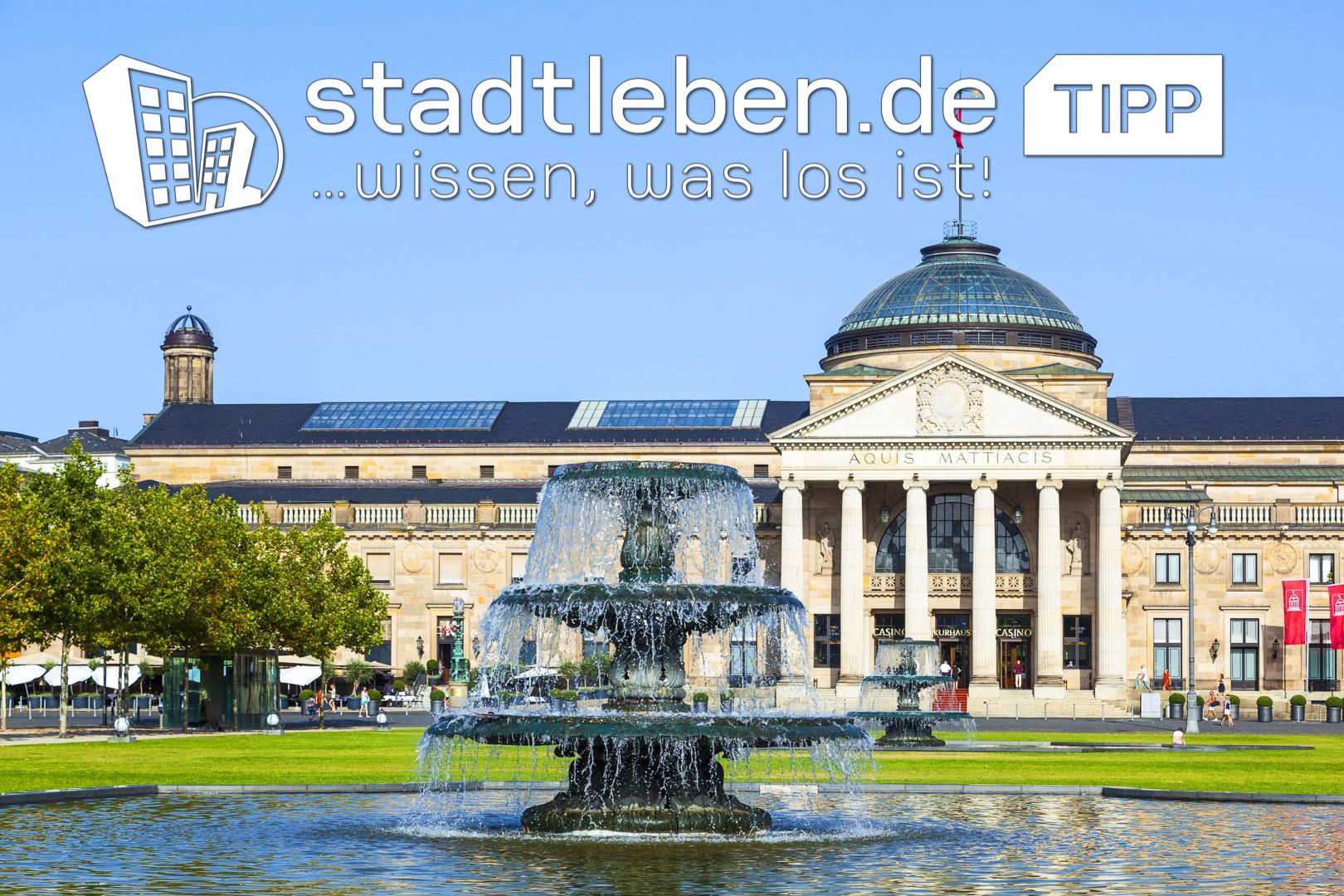 Kurhaus, Wiesbaden, Springbrunnen, Park