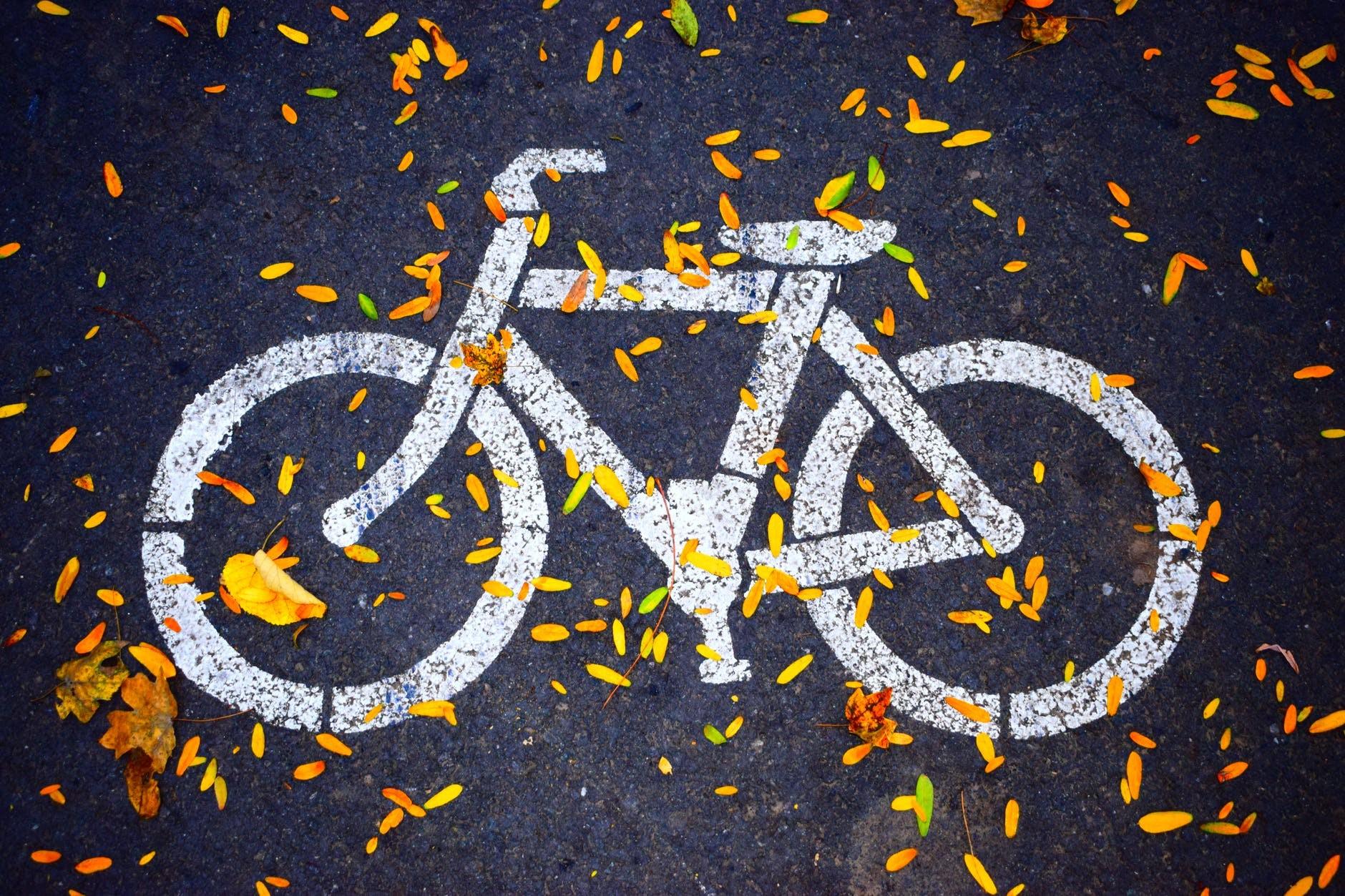 Fahrrad, Fahrradweg, Frankfurt, Hautbahnhof
