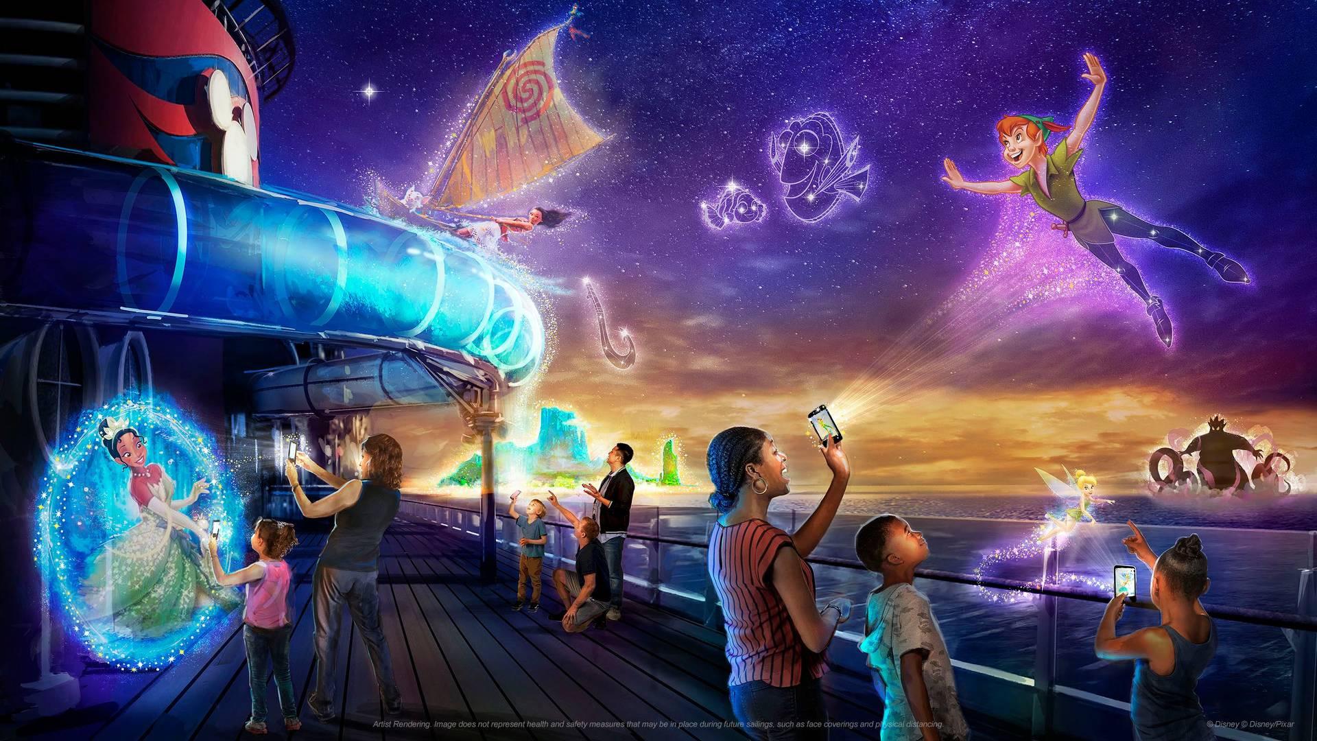 """Mit der Smartphone App """"Play Disney Parks"""" tauchen Besucher in neue Welten ein"""