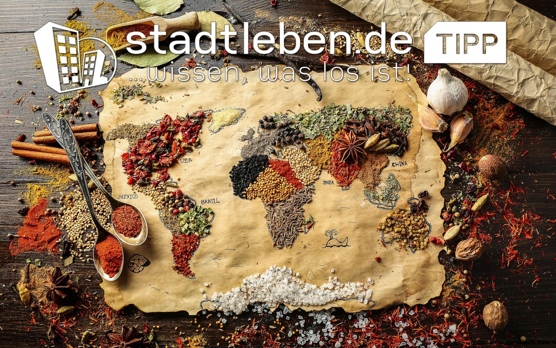 Kontinente, Weltkarte, Gewürze, Essen, Zutaten, kulinarisch, Restaurant, lecker, Vielfalt